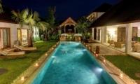 Pool at Night - Villa Nyoman - Seminyak, Bali
