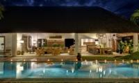 Swimming Pool at Night - Villa Nyoman - Seminyak, Bali