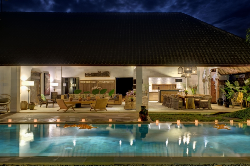 Swimming Pool at Night - Villa Nyoman - Seminyak, Bali