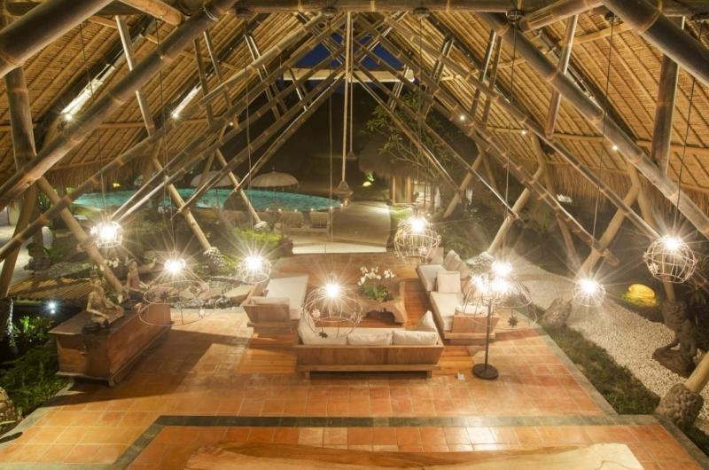 Living Area with View - Villa Omah Padi - Ubud, Bali