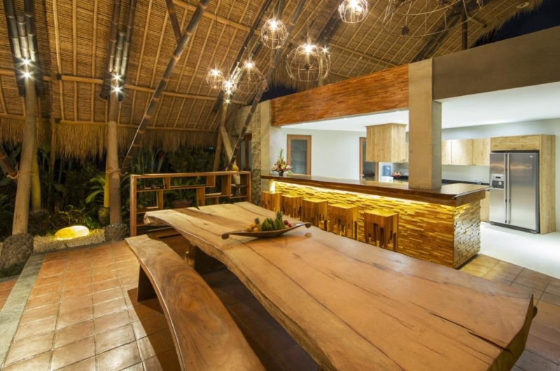 Kitchen and Dining Area - Villa Omah Padi - Ubud, Bali