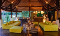 Living and Dining Area at Night - Villa Palm River - Pererenan, Bali