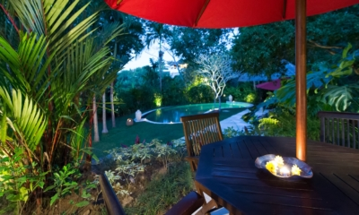 Gardens and Pool at Night - Villa Pangi Gita - Pererenan, Bali