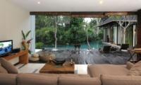 Living Area with Pool View - Villa Paya Paya - Seminyak, Bali