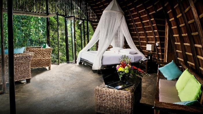 Spacious Bedroom with Pool View - Villa Pererepan - Ubud, Bali