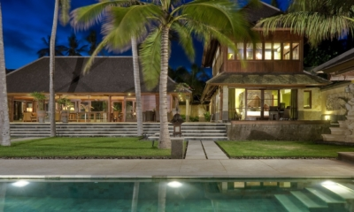 Gardens and Pool at Night - Villa Pushpapuri - Sanur, Bali