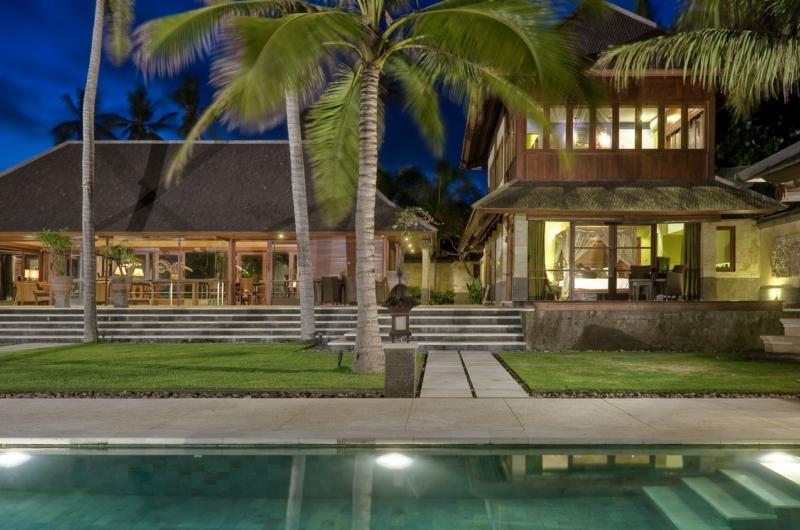 Gardens and Pool at Night - Villa Pushpapuri - Sanur, Bali
