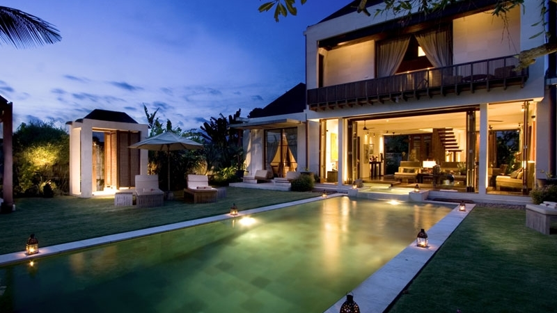 Pool at Night - Villa Raj - Sanur, Bali