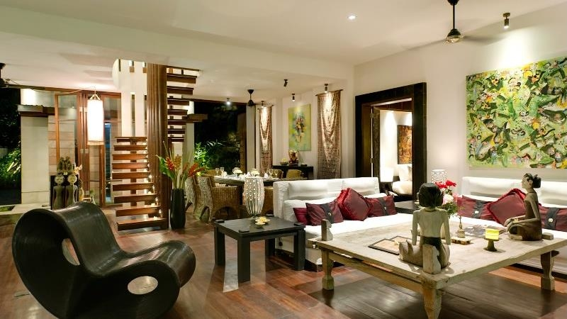 Living Area with Up Stairs - Villa Raj - Sanur, Bali