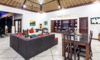 Living and Dining Area with Garden View - Villa Rama - Seminyak, Bali