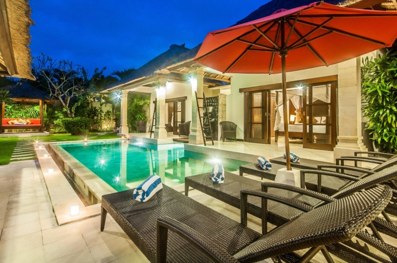 Pool at Night - Villa Rama - Seminyak, Bali
