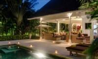 Pool at Night - Villa Rama Sita - Seminyak, Bali