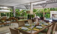Dining Area with Pool View - Villa Rama Sita - Seminyak, Bali
