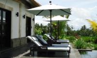 Pool Side Loungers - Villa Rumah Lotus - Ubud, Bali