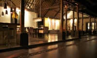 Living and Dining Area at Night - Villa Rumah Lotus - Ubud, Bali