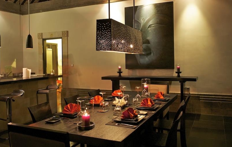 Dining Area at Night - Villa Rumah Lotus - Ubud, Bali