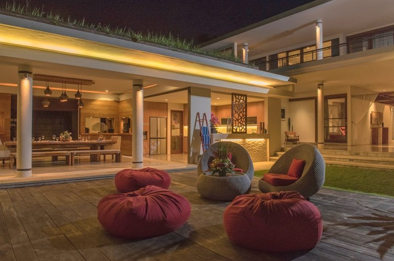 Living and Dining Area with Pool View - Villa Sally - Canggu, Bali