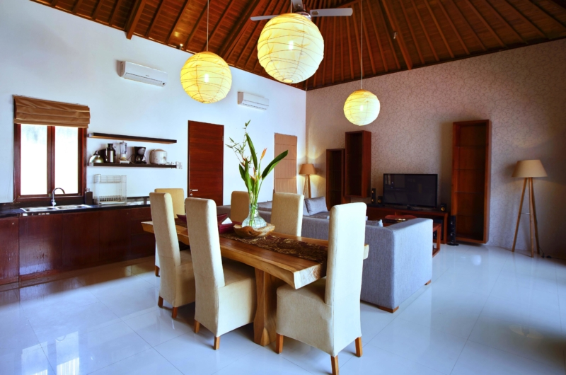 Living, Kitchen and Dining Area - Villa Sam Seminyak - Seminyak, Bali