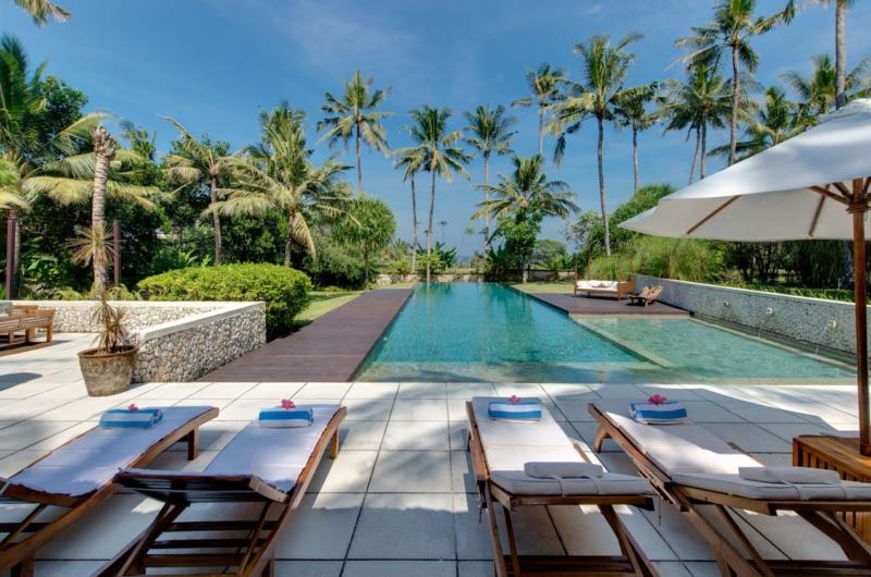 Pool Side Loungers - Villa Samadhana - Sanur, Bali