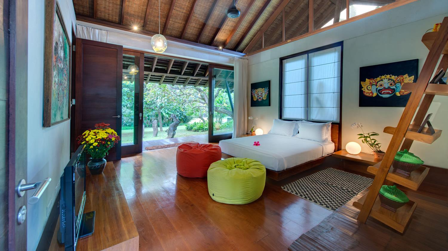 Bedroom with Garden View - Villa Samadhana - Sanur, Bali