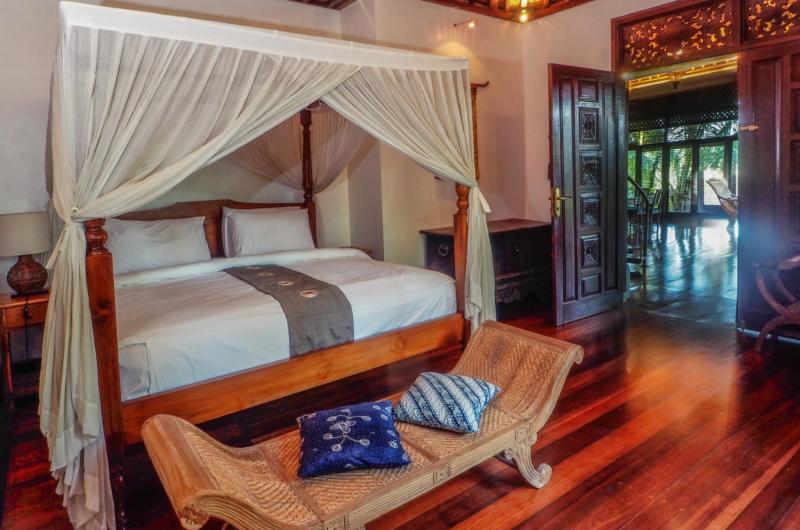 Bedroom with Wooden Floor - Villa Samaki - Ubud, Bali