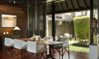 Dining Area with Garden View - Villa Samuan - Seminyak, Bali