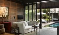 Living Area with Pool View - Villa Samuan - Seminyak, Bali