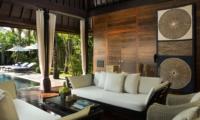 Lounge Area with Pool View - Villa Samuan - Seminyak, Bali