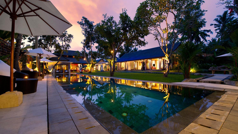 Swimming Pool at Night - Villa San - Ubud, Bali