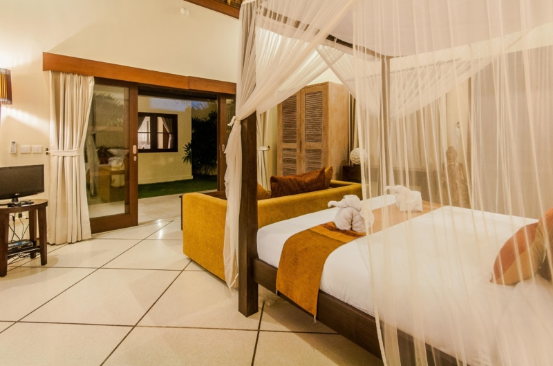 Bedroom with Mosquito Net - Villa Santai - Seminyak, Bali