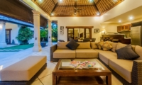 Living Area with View - Villa Santai - Seminyak, Bali