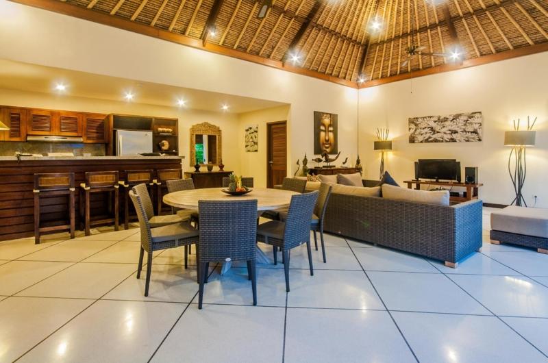 Living, Kitchen and Dining Area - Villa Santai - Seminyak, Bali