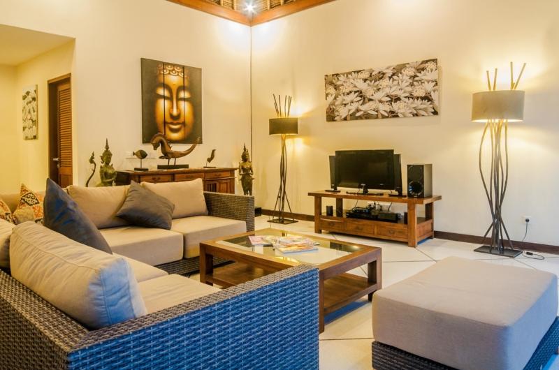 Lounge Area with TV - Villa Santai - Seminyak, Bali
