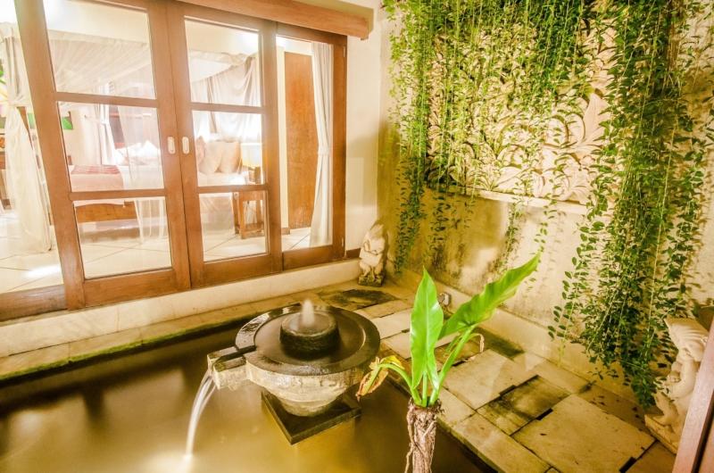Water Feature at Night - Villa Santai - Seminyak, Bali