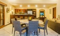 Indoor Kitchen and Dining Area - Villa Santai - Seminyak, Bali