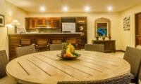 Indoor Kitchen and Dining Area with Fruits - Villa Santai - Seminyak, Bali