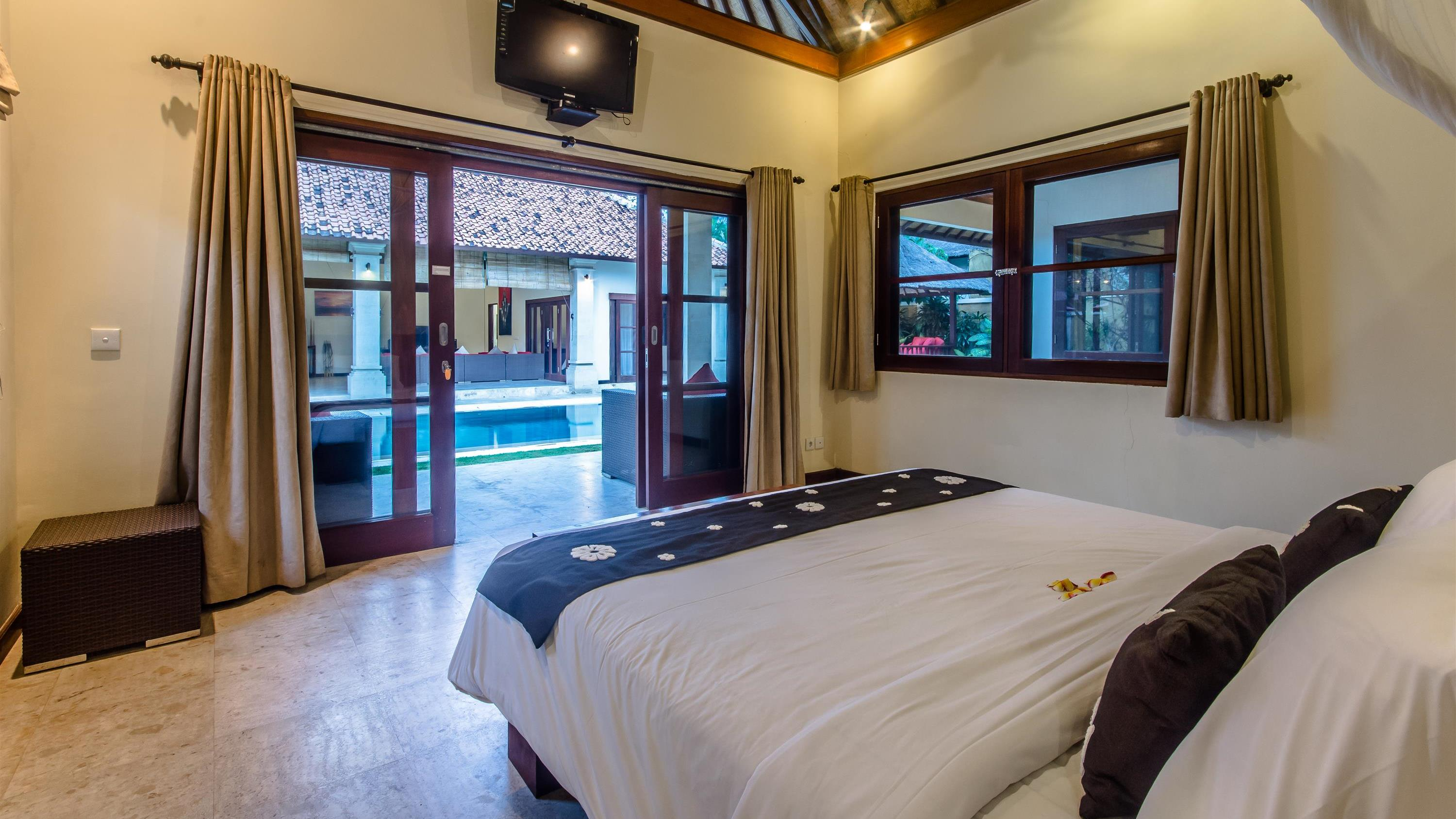 Bedroom with Pool View - Villa Santi - Seminyak, Bali