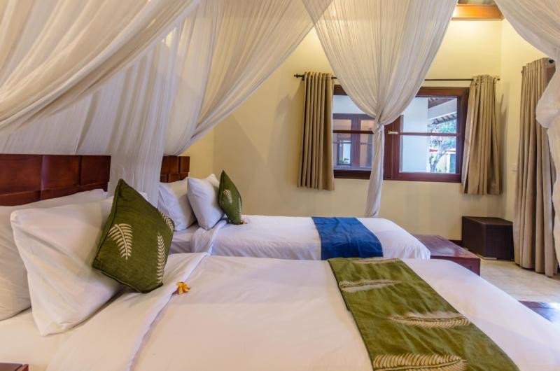 Twin Bedroom with Mosquito Net - Villa Santi - Seminyak, Bali