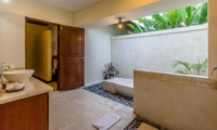 Semi Open Bathroom with Bathtub - Villa Santi - Seminyak, Bali