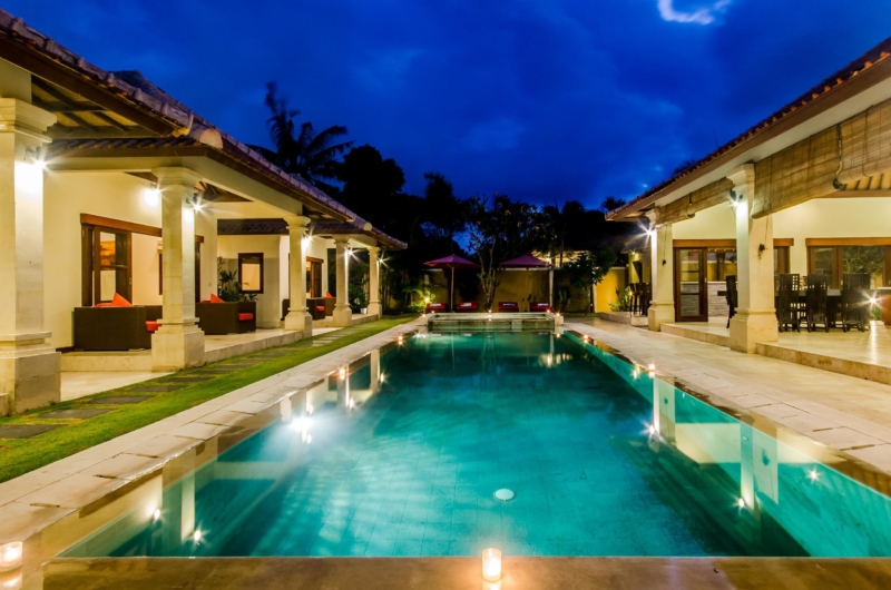 Swimming Pool at Night - Villa Santi - Seminyak, Bali