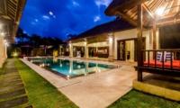 Pool Bale at Night - Villa Santi - Seminyak, Bali