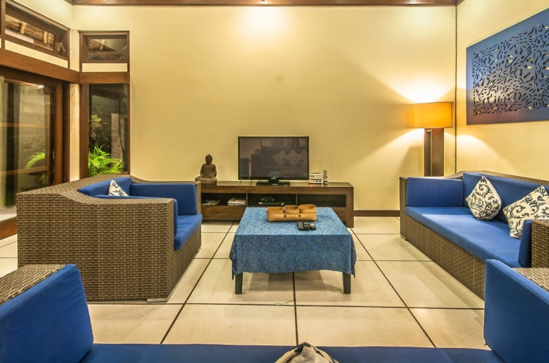 Living Area with TV - Villa Saphir - Seminyak, Bali