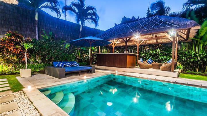 Sun Beds at Night - Villa Saphir - Seminyak, Bali
