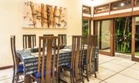 Dining Area at Night - Villa Saphir - Seminyak, Bali