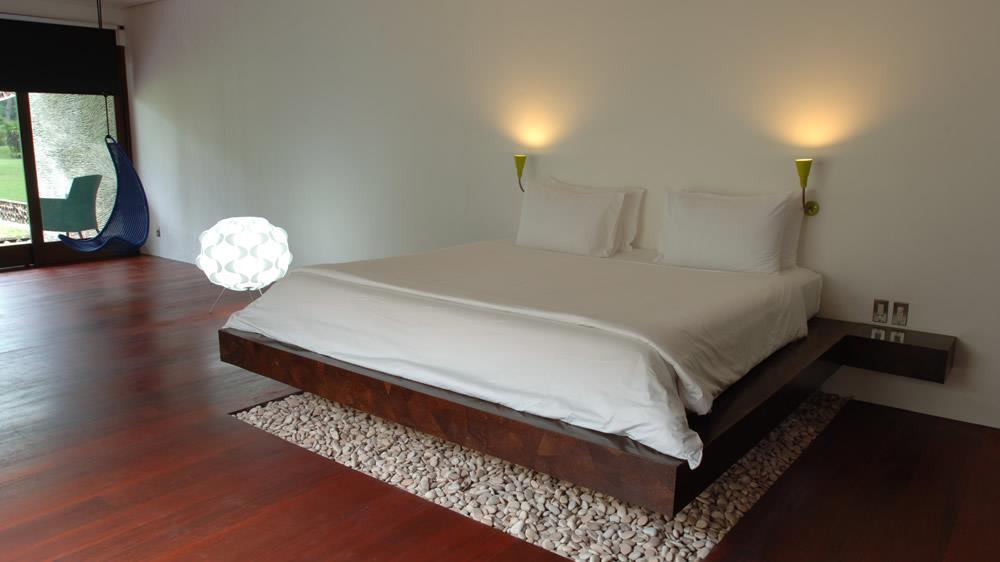 Bedroom with Wooden Floor - Villa Sapi - Lombok, Indonesia