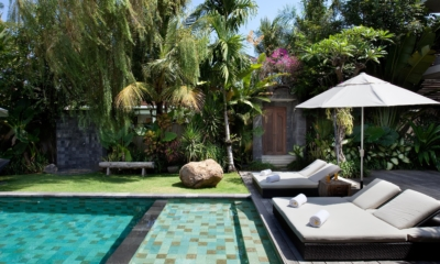 Pool Side Loungers - Villa Sarasvati - Canggu, Bali