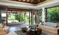 Living Area with Garden View - Villa Sarasvati - Canggu, Bali