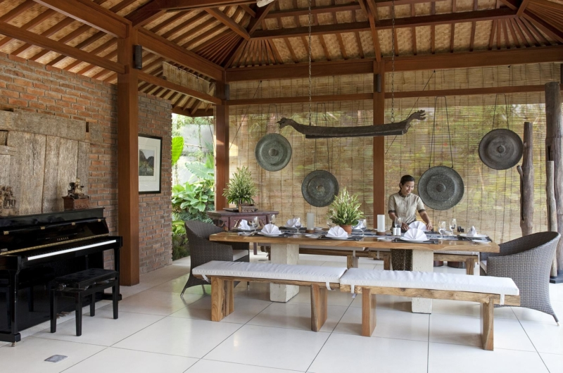 Dining Area with Piano - Villa Sati - Canggu, Bali