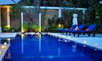 Pool at Night - Villa Sayang - Seminyak, Bali