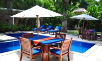 Pool Side Dining - Villa Sayang - Seminyak, Bali